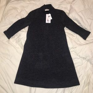Never worn gray sweater dress with front pockets